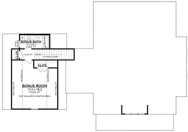 Farmhouse Floor Plan - Upper Floor Plan #430-256