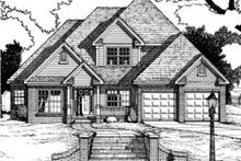 Dream House Plan - Traditional Exterior - Front Elevation Plan #20-1573
