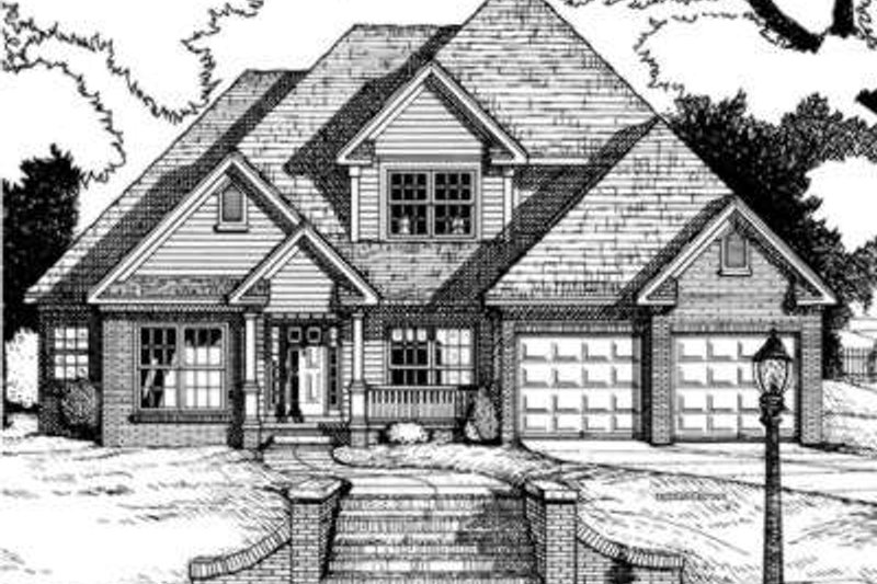 Home Plan - Traditional Exterior - Front Elevation Plan #20-1573