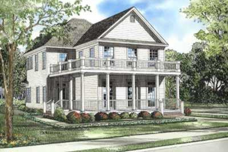 Southern Style House Plan - 3 Beds 3 Baths 1897 Sq/Ft Plan #17-521 Exterior - Front Elevation