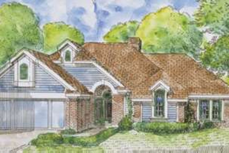 European Exterior - Front Elevation Plan #410-331
