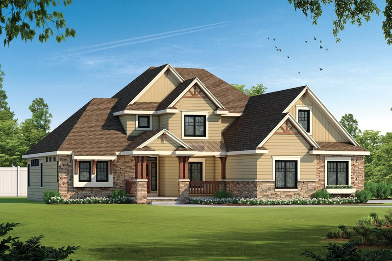 Home Plan - Traditional Exterior - Front Elevation Plan #20-1867