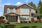 Cottage Style House Plan - 4 Beds 2.5 Baths 2388 Sq/Ft Plan #132-567 Exterior - Rear Elevation