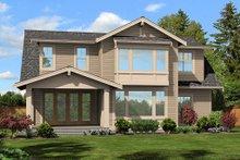 Cottage Exterior - Rear Elevation Plan #132-567