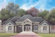 European Style House Plan - 3 Beds 3 Baths 4238 Sq/Ft Plan #119-206 Exterior - Front Elevation