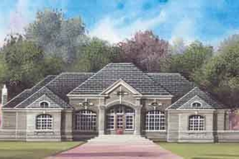 House Plan Design - European Exterior - Front Elevation Plan #119-206