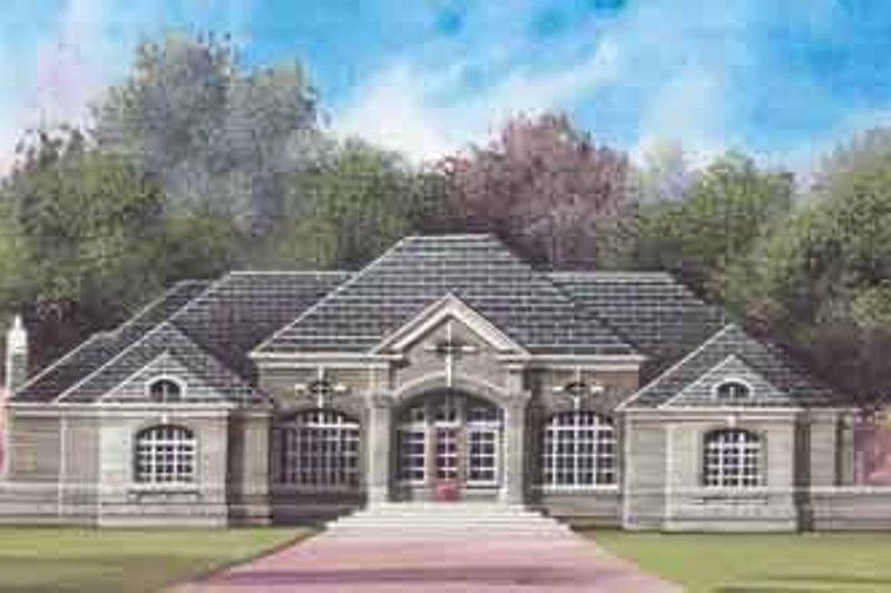 Home Plan - European Exterior - Front Elevation Plan #119-206
