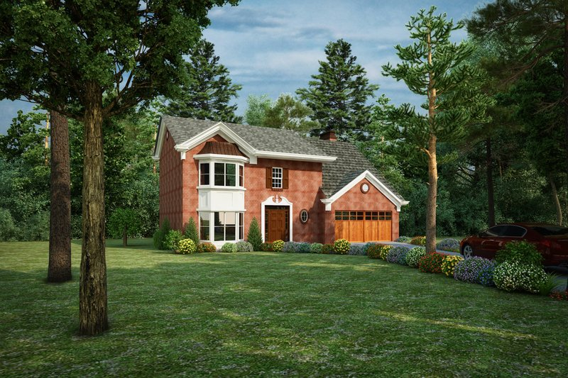 Traditional Style House Plan - 4 Beds 2.5 Baths 2426 Sq/Ft Plan #30-348 Exterior - Front Elevation
