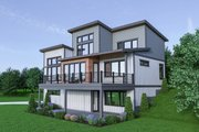 Contemporary Style House Plan - 3 Beds 2.5 Baths 2586 Sq/Ft Plan #1070-45 Exterior - Rear Elevation