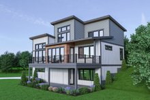 House Plan Design - Contemporary Exterior - Rear Elevation Plan #1070-45