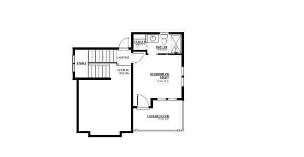 House Plan Design - Craftsman Floor Plan - Upper Floor Plan #895-118