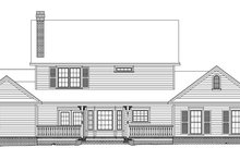 Country Exterior - Rear Elevation Plan #11-120