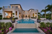 Mediterranean Style House Plan - 5 Beds 5.5 Baths 8001 Sq/Ft Plan #548-5 Exterior - Rear Elevation