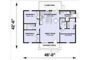 Farmhouse Style House Plan - 2 Beds 2 Baths 1311 Sq/Ft Plan #44-227 Floor Plan - Main Floor Plan
