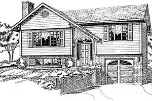 Traditional Exterior - Front Elevation Plan #47-158