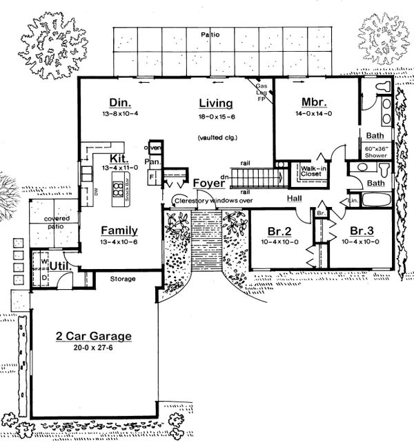 Modern Floor Plan - Main Floor Plan Plan #126-189