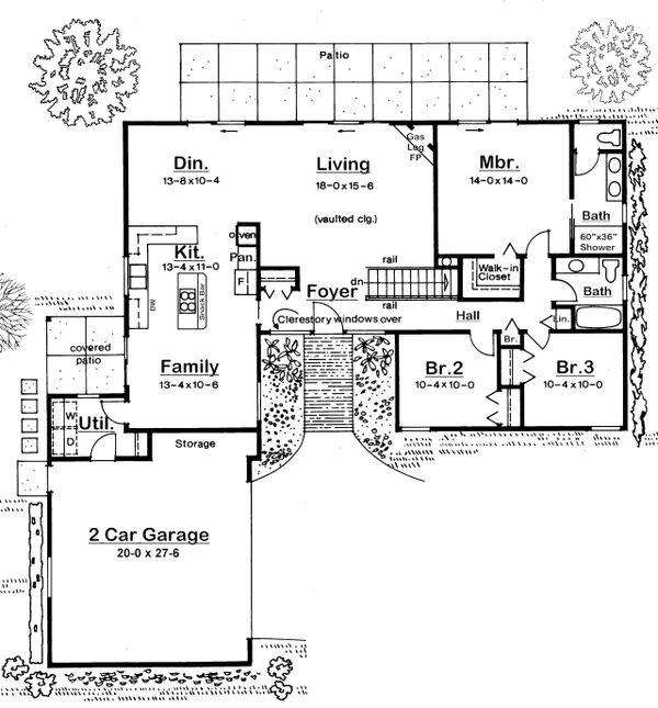Home Plan - Modern Floor Plan - Main Floor Plan #126-189