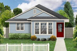 Cottage Exterior - Front Elevation Plan #84-448
