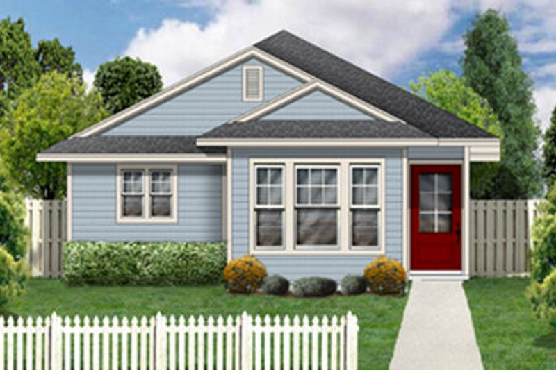 Dream House Plan - Cottage Exterior - Front Elevation Plan #84-448