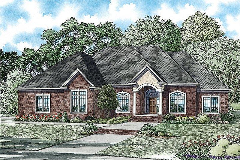 Dream House Plan - European Exterior - Front Elevation Plan #17-2474