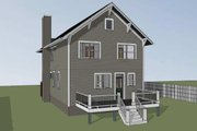 Craftsman Style House Plan - 3 Beds 2.5 Baths 1648 Sq/Ft Plan #79-267 Exterior - Rear Elevation