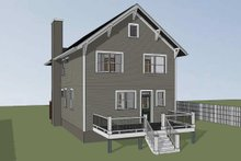 Dream House Plan - Craftsman Exterior - Rear Elevation Plan #79-267