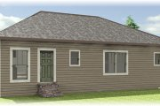 Craftsman Style House Plan - 4 Beds 2 Baths 1541 Sq/Ft Plan #44-180 Exterior - Rear Elevation