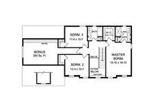 Colonial Floor Plan - Upper Floor Plan Plan #1010-209