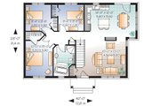 Traditional Style House Plan - 3 Beds 1 Baths 1124 Sq/Ft Plan #23-641 Floor Plan - Main Floor