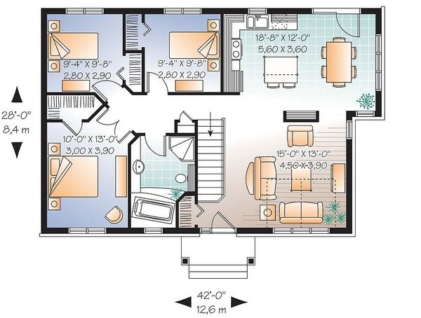 Traditional Floor Plan - Main Floor Plan Plan #23-641