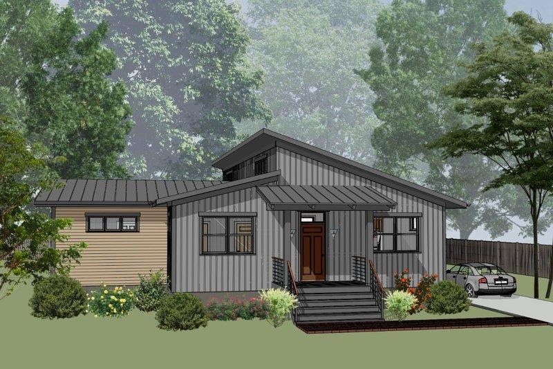 Home Plan - Modern Exterior - Front Elevation Plan #79-329