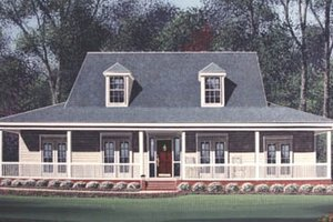 Southern Exterior - Front Elevation Plan #15-207