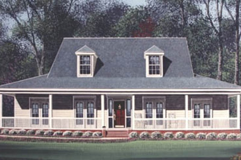 Southern Style House Plan - 4 Beds 3 Baths 2625 Sq/Ft Plan #15-207 Exterior - Front Elevation