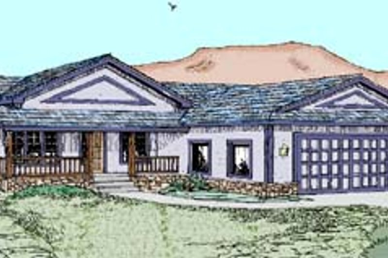 Ranch Exterior - Front Elevation Plan #60-543 - Houseplans.com