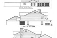 House Plan Design - Country Exterior - Rear Elevation Plan #17-296