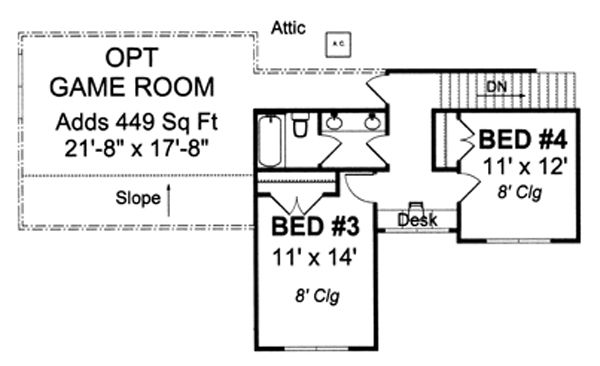 Farmhouse Floor Plan - Upper Floor Plan Plan #513-2046