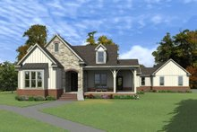 Dream House Plan - Country Exterior - Front Elevation Plan #63-413