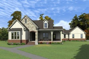 Country Exterior - Front Elevation Plan #63-413