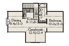 Country Floor Plan - Upper Floor Plan Plan #406-301