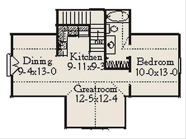 Country Floor Plan - Upper Floor Plan Plan #406-301