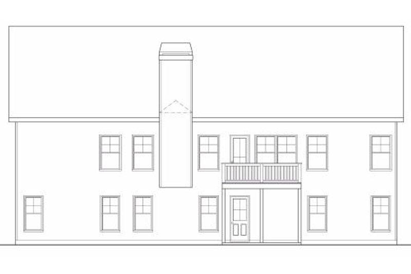 Country Exterior - Rear Elevation Plan #419-130 - Houseplans.com