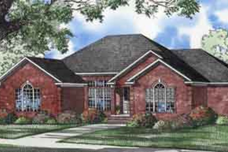 House Plan Design - Traditional Exterior - Front Elevation Plan #17-2083