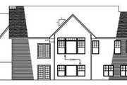 European Style House Plan - 3 Beds 2 Baths 1632 Sq/Ft Plan #51-240 Exterior - Rear Elevation