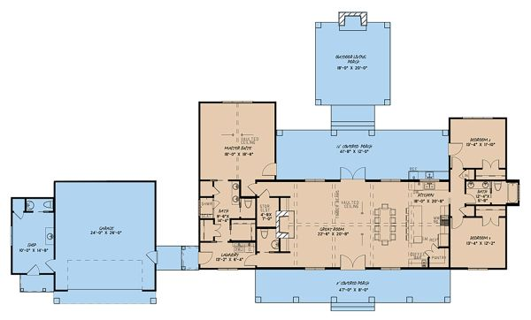 Craftsman Floor Plan - Main Floor Plan Plan #923-142