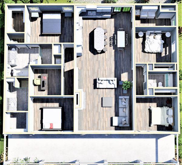 House Plan Design - Traditional Floor Plan - Other Floor Plan #44-253