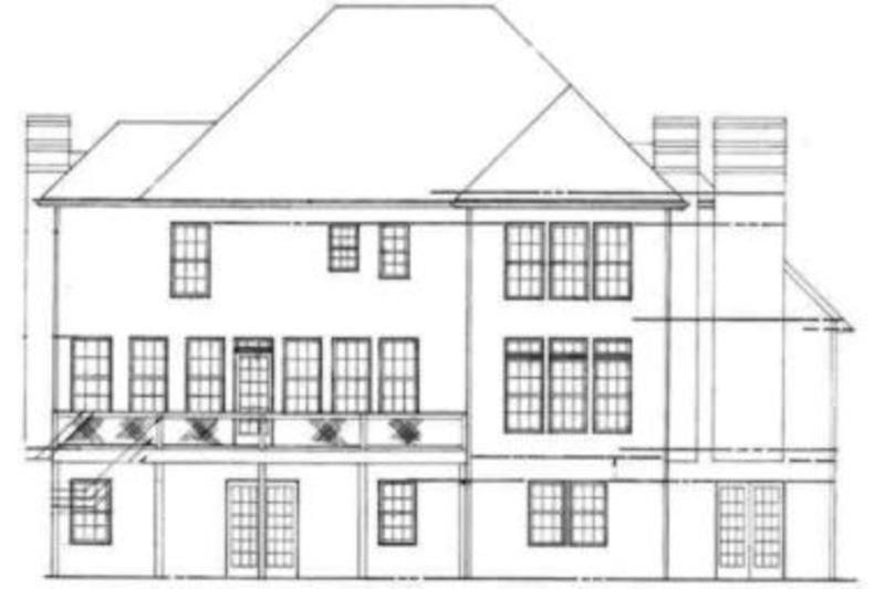 European Exterior - Rear Elevation Plan #119-127 - Houseplans.com