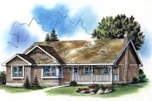 Home Plan - Farmhouse Exterior - Front Elevation Plan #18-1023