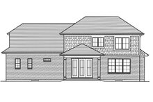 Architectural House Design - Traditional Exterior - Rear Elevation Plan #46-883