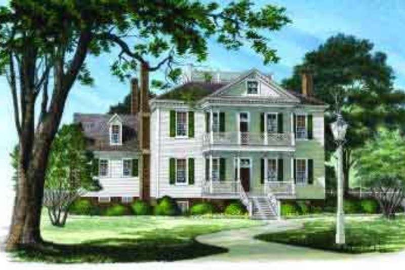 Southern Exterior - Front Elevation Plan #137-218 - Houseplans.com