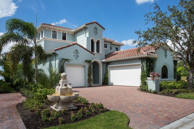 House Plan Design - Mediterranean Exterior - Front Elevation Plan #930-481